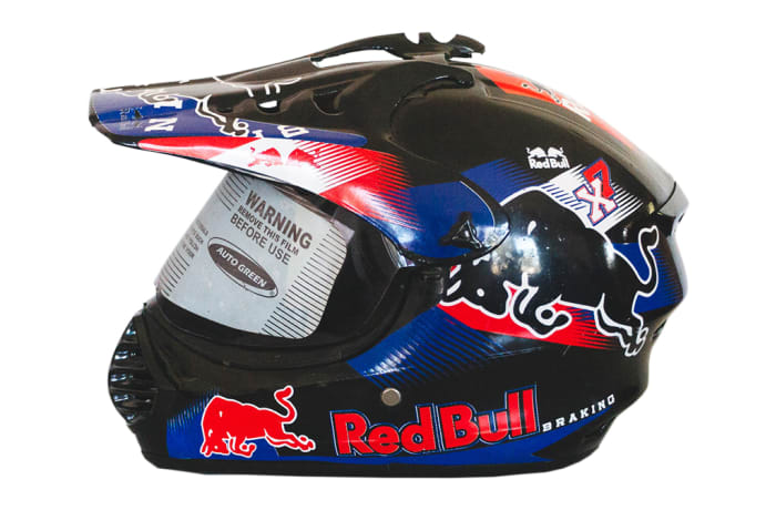 Motorcycle Helmet - PVT Helmet-Autogreen Red Bull