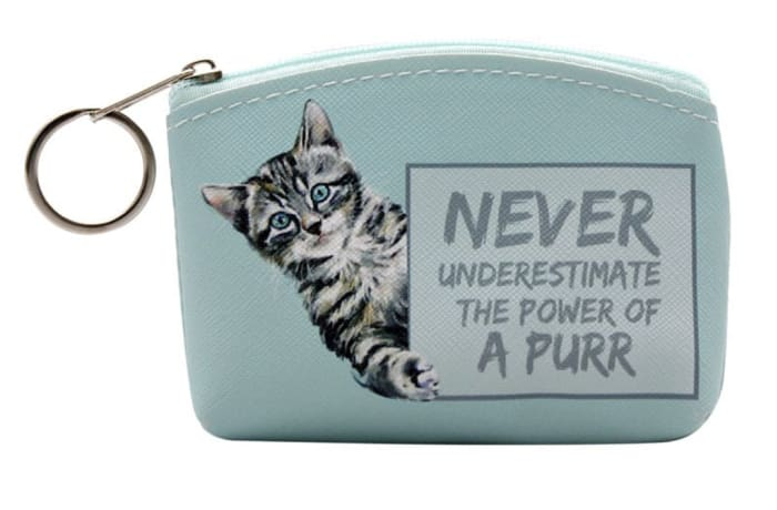Coin Purse Paws for Thought  ....Power of a Purr