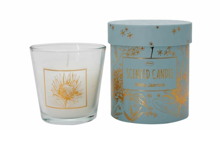 Candle  Perfectly Pretty Scented  White Jasmine