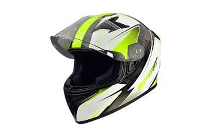 Motorcycle Helmet - Fluorescent Flip Up Motorcycle Helmet