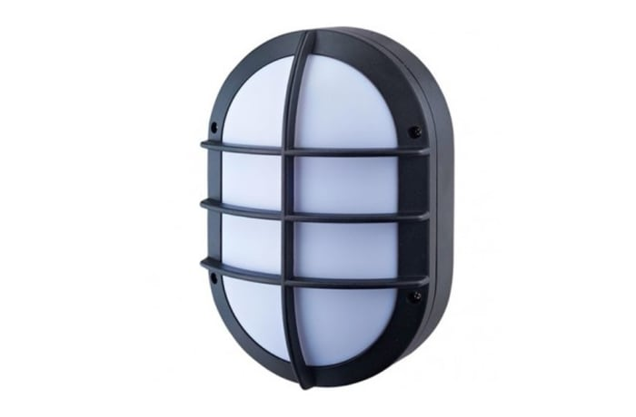 Outdoor Wall Lamps - WO20G Bulkhead-Small Oval Grid