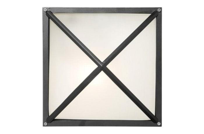 Outdoor Wall Lamps - WQO8G Bulkhead-Square Medium Grid