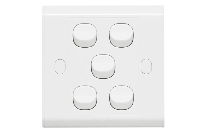 Wall Switches - 5 Gang Switch