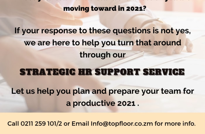 Strategic HR support services for a productive 2021 image