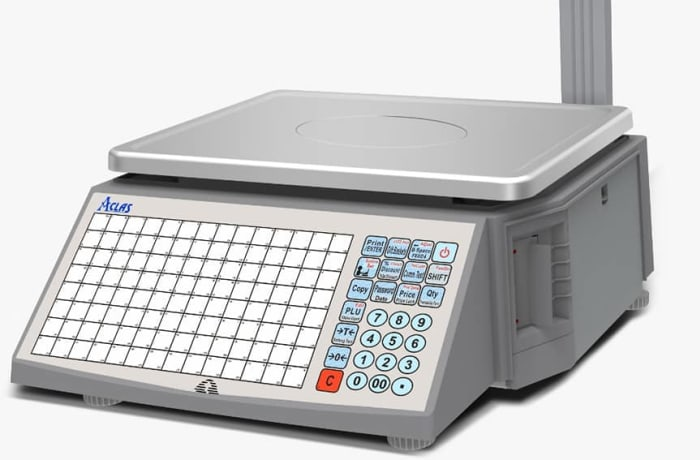 Barcode label printing scale image