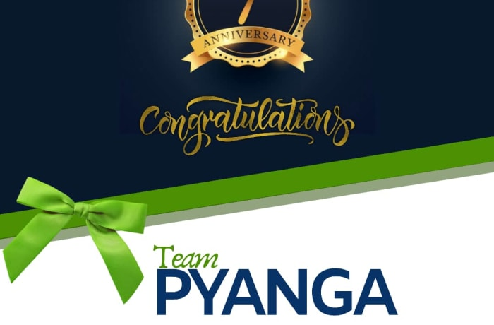 Pyanga Cleaning Services celebrates 7th Anniversary! image