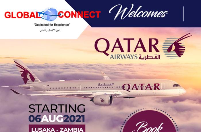 Flights to Zambia with Qatar Airways image