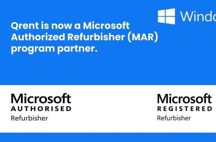 Qrent is now a Microsoft Authorized Refurbisher (MAR) program partner image