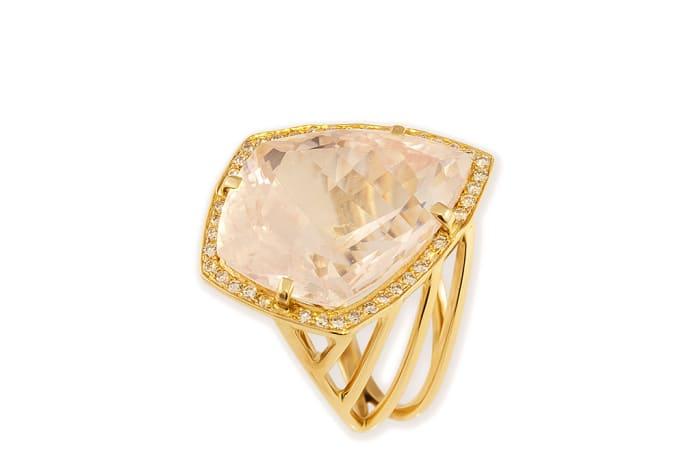 Rose Gold Quartz  Fancy Ring