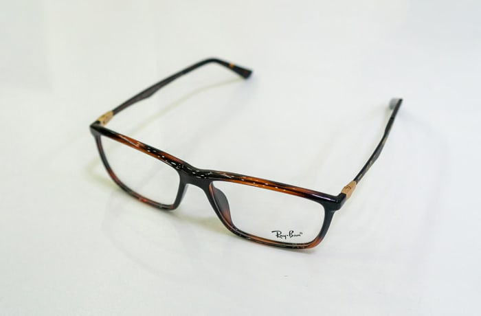 Ray-Ban Full Rim Eyeglass Frames - Black & Orange