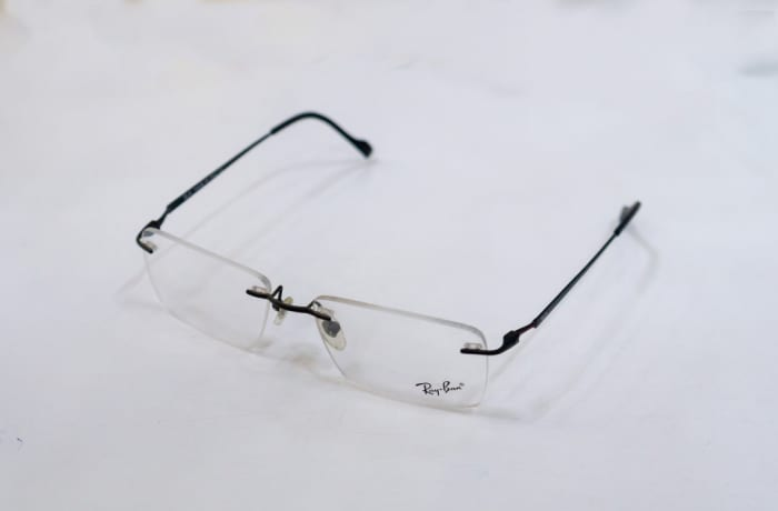 Ray-Ban Rimless Eyeglass Frames - Black