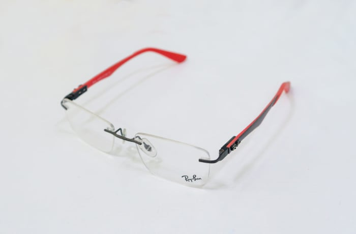 Ray-Ban Rimless Eyeglass Frames - Red