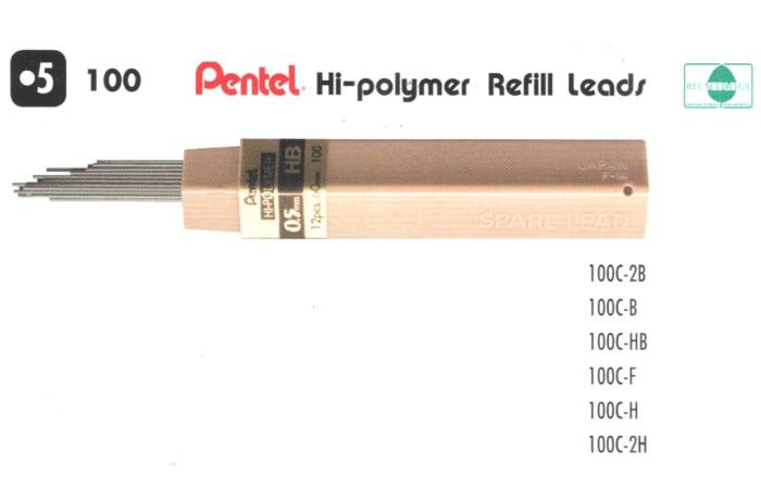Refill Leads - 100 Pentel Hi-polymer Refill Leads