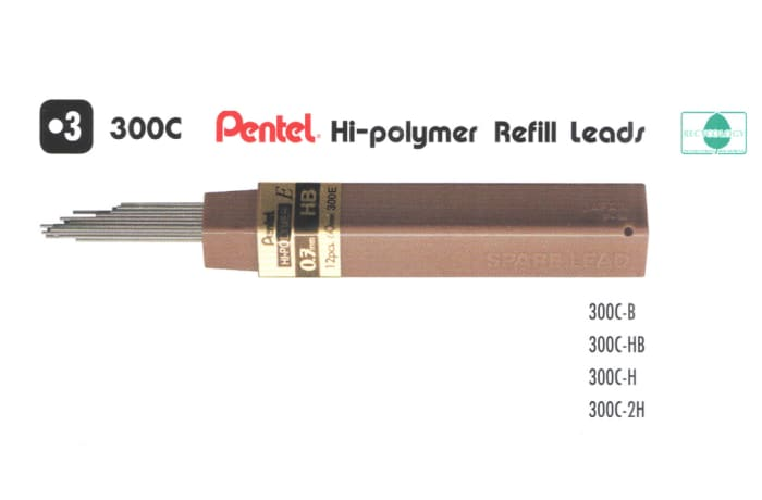 Refill Leads - 300 Pentel Hi-polymer Refill Leads