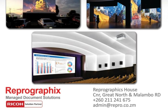 Large scale high end projector hire image