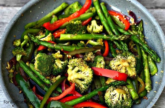 Bridal Breakfast-Brunch Menu - Hots - Vegetable Stir-fry