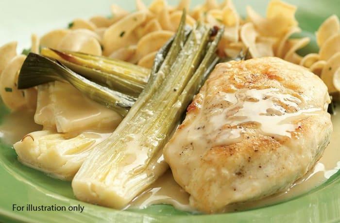 Lunch Choice Option 2 - Chicken Casserole in a Creamy Leek Sauce