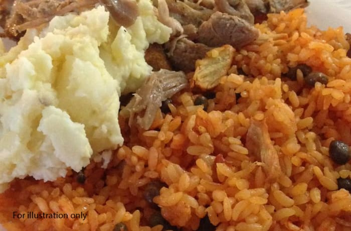 Lunch Choice Option 4 - Steamed Rice & Mushed Potatoes