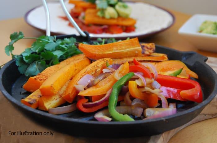 Vegetarian - Spicy Butternut Fajitas