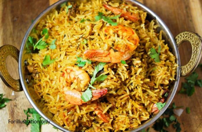 Biryani & Rice - Prawns Biryani image