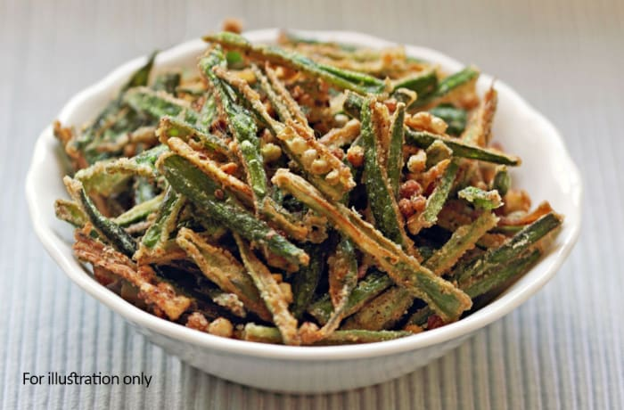 Special Vegetarian Starters - Bhindi Kurkure