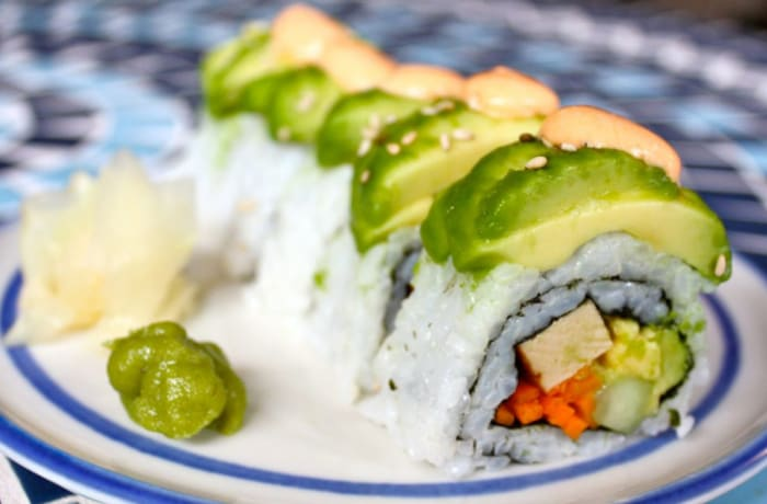 Special Vegetarian Starters - Vegetable Dragon Rolls