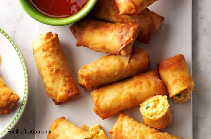 Vegetarian Starters - Vegetable Cheese Crispy Rolls