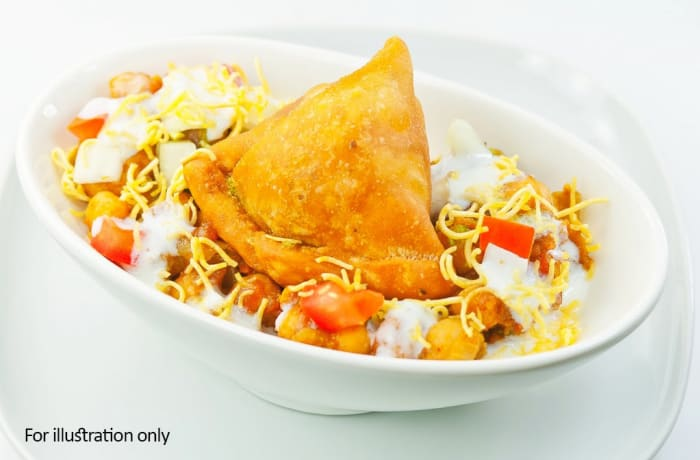 Vegetarian Starters - Vegetable Samosa Chaat