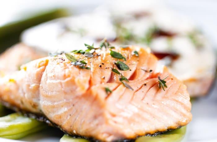 The Royal Livingstone Dining Room - Roasted Fillet Of Norwegian Salmon