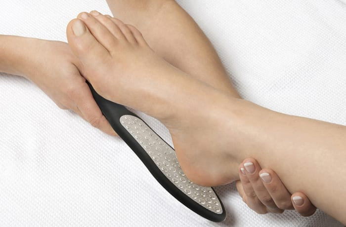 Sole foot file treatment