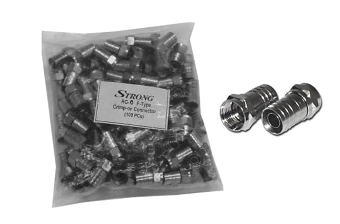 Crimp-on connectors RG-6 F-Type