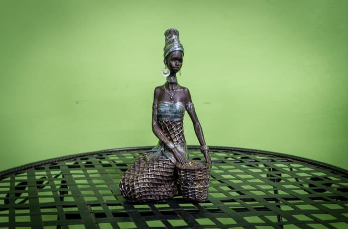 Sandy's Creations - Bronze Girl-Weave Sitting