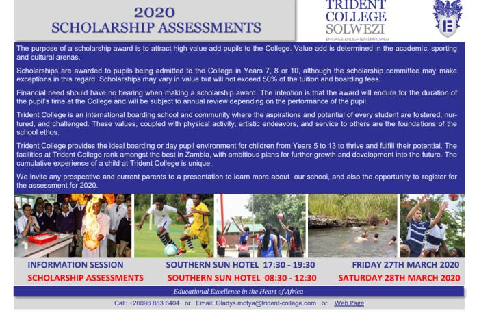 2020 Scholarship assessments in Lusaka image