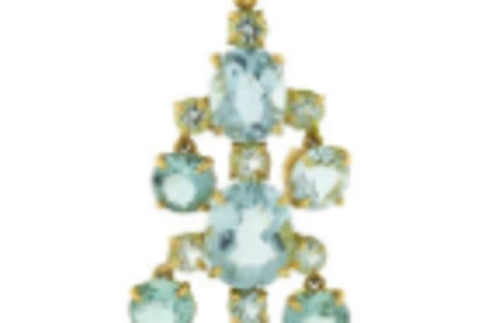 Aquamarine cage pendant