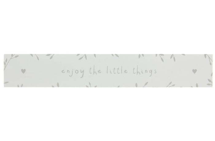 "Jenam Sentiments Wooden Block ""Enjoy the Little Things"""