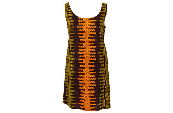 Shift  Chitenge Dress Gold with Pockets