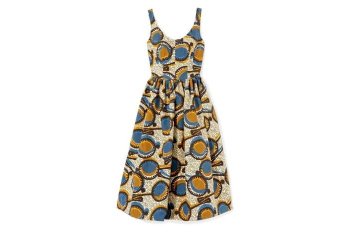 Short dress - African Chitenge print short dress