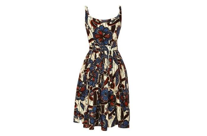Short dress - African Chitenge Print - Sleeveless