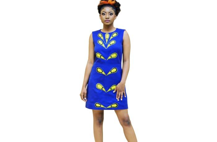 Short dress - Blue a-line dress