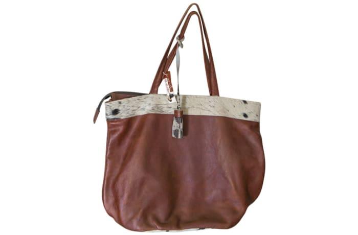 Shoulder Bag Genuine  Brown Leather Tote Bag