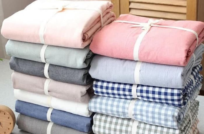 Simple solid color washed cotton 1.5x1.8m bed cover Sheets - 29043311543