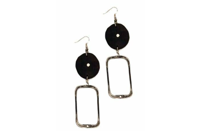 Snare Square Earrings