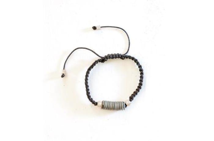 Snare bracelet in bronze & black