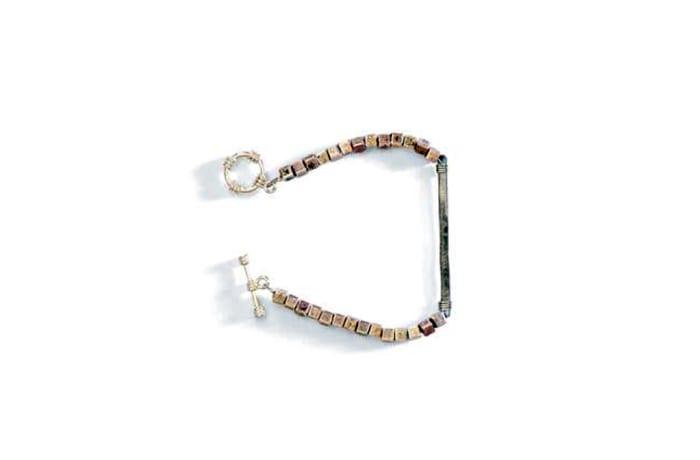 Snare & square bracelet