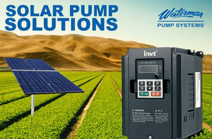 Purchase solar water pump inventers at Waterman Ltd image
