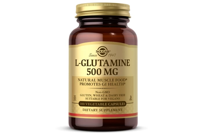 L-Glutamine 500 Mg  Natural Muscle Food Promotes Gi Health 50 Capsules
