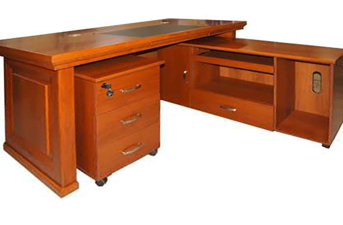 1.6 Metre Solid Wood Executive Desk - Cherry