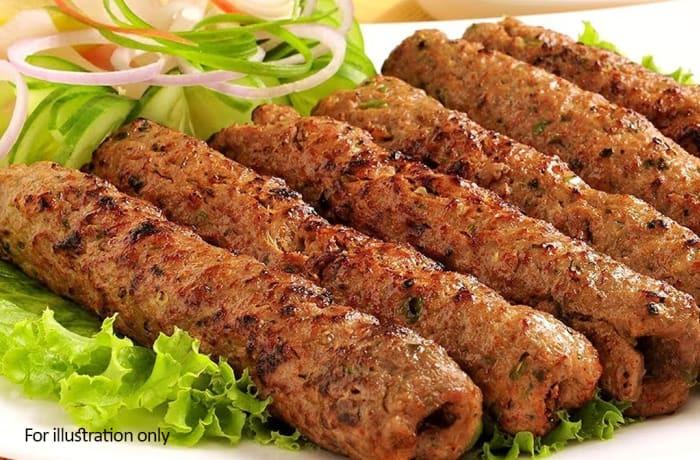 Special Non Vegetarian Starters - Sesame Mutton Seekh Kebab