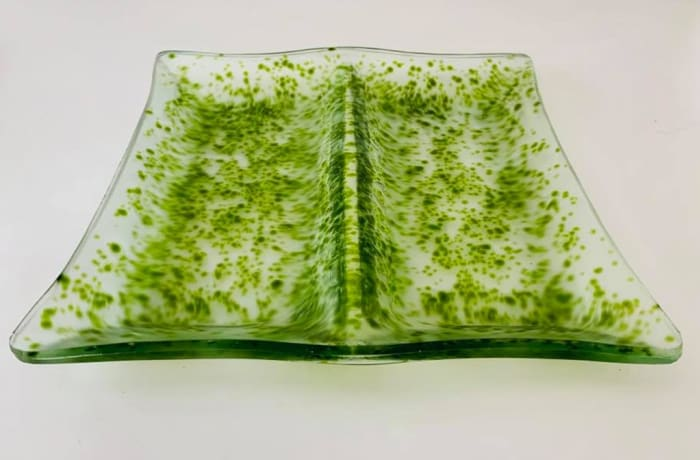 Speckled Green 2 in 1 serving dish