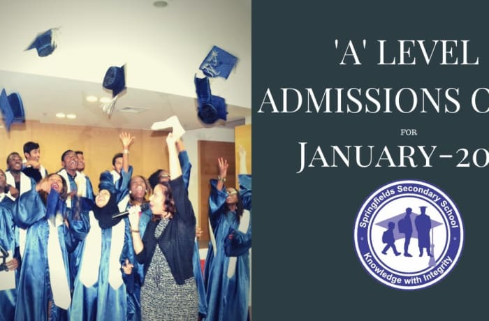 A Level Admissions open for January 2021 image